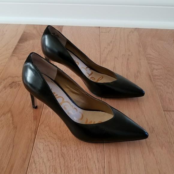 3ea4dae77 Sam Edelman sz 6.5 Orella pump in black leather. M 5ac8216f84b5ceaf86d0aa15